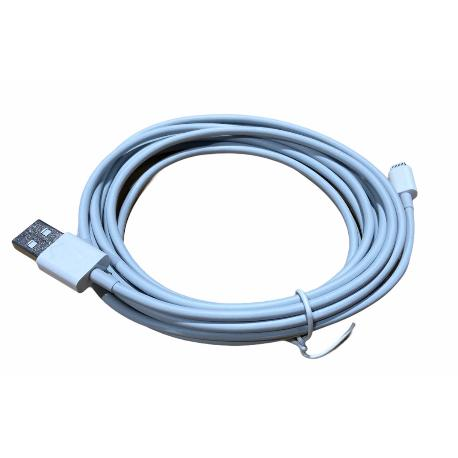 CABLE DE DATOS LIGHTNING BLANCO 3 METROS BLANCO