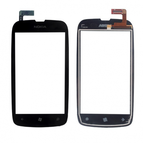 pantalla tactil con cristal digitalizador + marco para nokia lumia 610 negro
