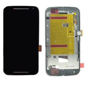 Pantalla Lcd + Tactil con Marco Motorola Moto G2 2ª Generacion Xt1603 XT1068 XT1078 Negra