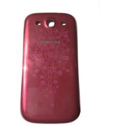 tapa trasera Roja con flores Original samsung I9300 galaxy S3