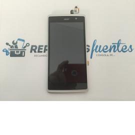 Repuesto Pantalla Lcd Display + Tactil con Marco Original Acer Liquid Z500 Blanca de Desmontaje