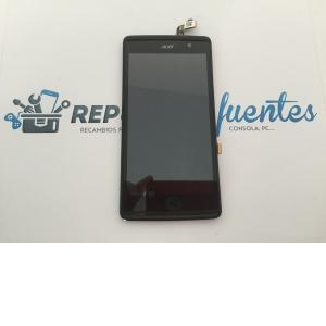Repuesto Pantalla Lcd Display + Tactil con Marco Original Acer Liquid Z500 Negra de Desmontaje