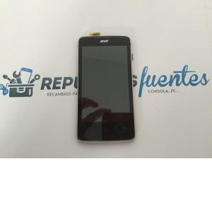 Repuesto Pantalla Lcd Display + Tactil con Marco Original Acer Liquid Z4 Gris Plata de Desmontaje