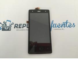 Repuesto Pantalla Lcd Display + Tactil con Marco Original Acer Liquid E3 Negra de Desmontaje