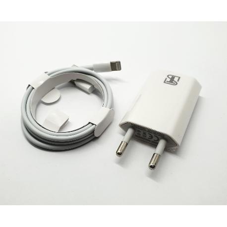 CABLE DE CONECTOR LIGHTNING A USB  Y ADAPTADOR DE CORRIENTE USB DE 5W