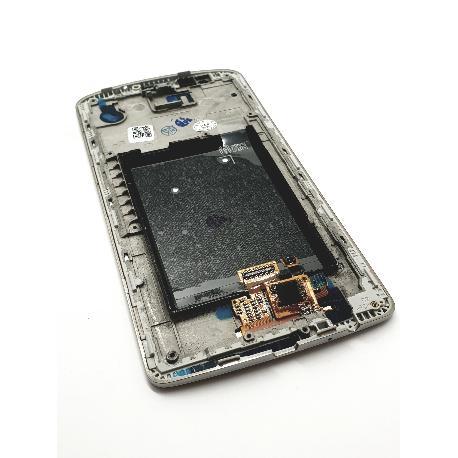 PANTALLA TACTIL + LCD DISPLAY CON MARCO PARA  OPTIMUS G3 - ORO