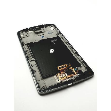 PANTALLA TACTIL + LCD DISPLAY CON MARCO PARA  OPTIMUS G3 - GRIS