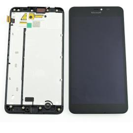 Pantalla LCD Display + Tactil con Marco Nokia Lumia 640 XL - Negra