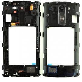 Carcasa Intermedia con Lente + Boton de Encendido + Altavoz Buzzer Speaker para LG G3 Mini D722 - Negro
