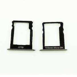 Bandejas de Tarjeta SIM y SD Original para Huawei P8 Lite - Negro