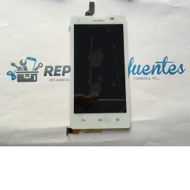 Repuesto Pantalla Tactil + LCD para Huawei Ascend G700 - Blanco