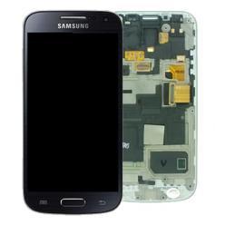 Pantalla completa con Marco Original Samsung galaxy S4 Mini i9195 Negro Gris Oscuro
