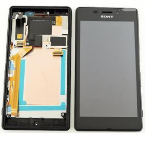 Pantalla LCD Display + Tactil con Marco Original para Sony Xperia M2 Aqua D2403 D2406 - Negra