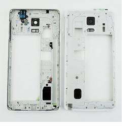 Carcasa Intermedia + Jack Audio + Buzzer Samsung Galaxy Note 4 SM-N910 - Blanco