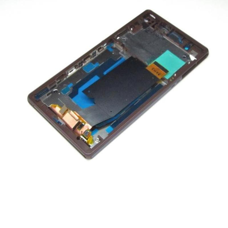 Repuesto Pantalla Tactil + LCD con Marco para SONY XPERIA Z C6603 L36H - Lila