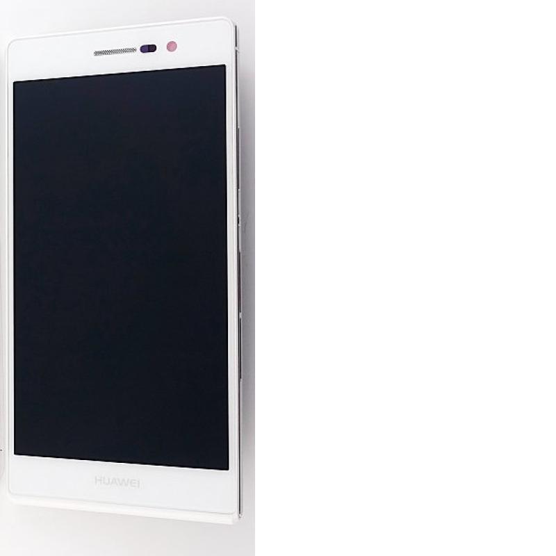 Pantalla Lcd + Tactil con Marco Original Huawei Ascend P7 Sophia blanco