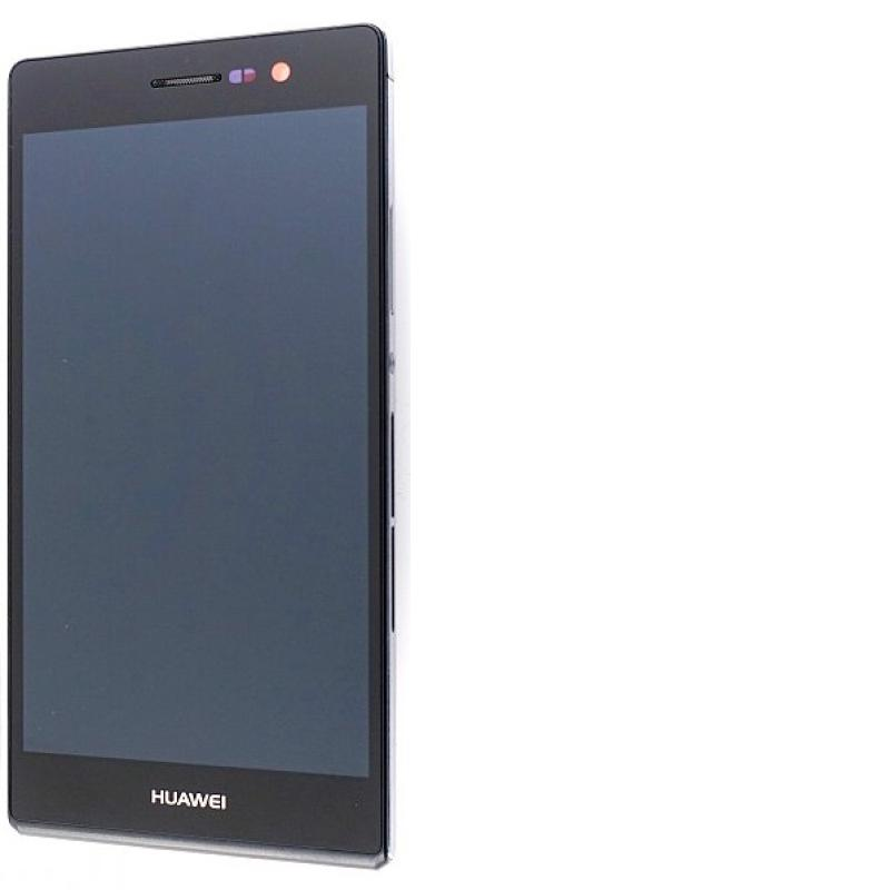 Pantalla Lcd + Tactil con Marco Original Huawei Ascend P7 Sophia Negra