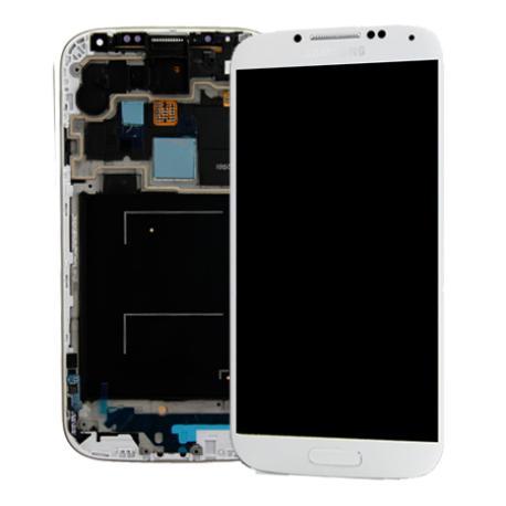 Pantalla Lcd + táctil con Marco Original Samsung Galaxy S4 I9506 Blanca