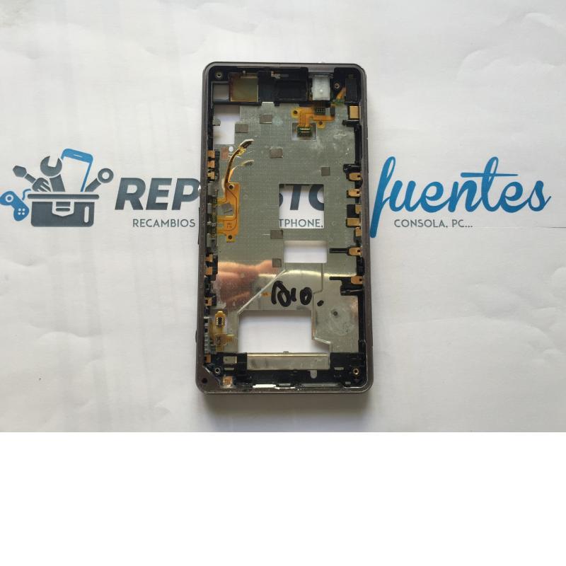 Marco Frontal con Tapas de SD, Micro USB y Tarjeta Sim para Sony Xperia Z1 Compact Z1C - Negro / Desmontaje