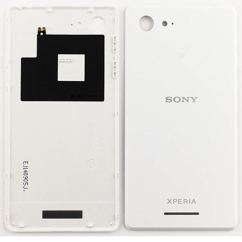 Carcasa Tapa Trasera de Bateria para Sony Xperia E3 D2203 D2206 D2243 - Blanca / Desmontaje