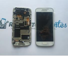 Pantalla Lcd + Tactil Con Marco Original Samsung S4 Mini Plus 4G GT-i9195I LTE - Blanca