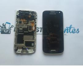 Pantalla Lcd + Tactil Con Marco Original Samsung S4 Mini Plus 4G GT-i9195I LTE - Negra