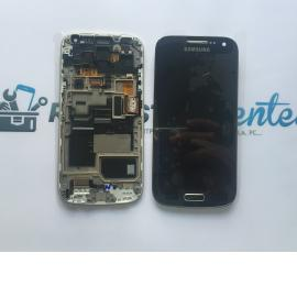 Pantalla Lcd + Tactil Con Marco Original Samsung S4 Mini Plus 4G GT-i9195I LTE - Black Edition