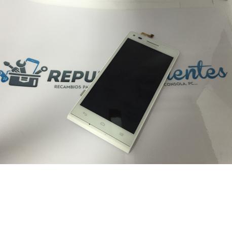 Repuesto Pantalla Tactil + LCD con Marco para Huawei G6 Version 3G - Blanco