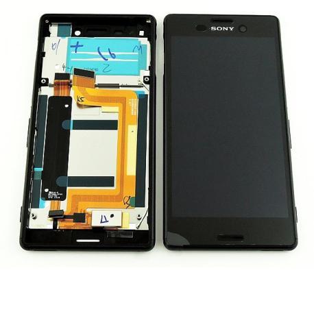 Repuesto Pantalla LCD + Tactil con Marco para Sony Xperia M4 Aqua E2303 - Negro