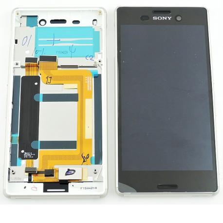 Pantalla LCD Display + Tactil con Marco Original para Sony Xperia M4 Aqua E2303 - Plata