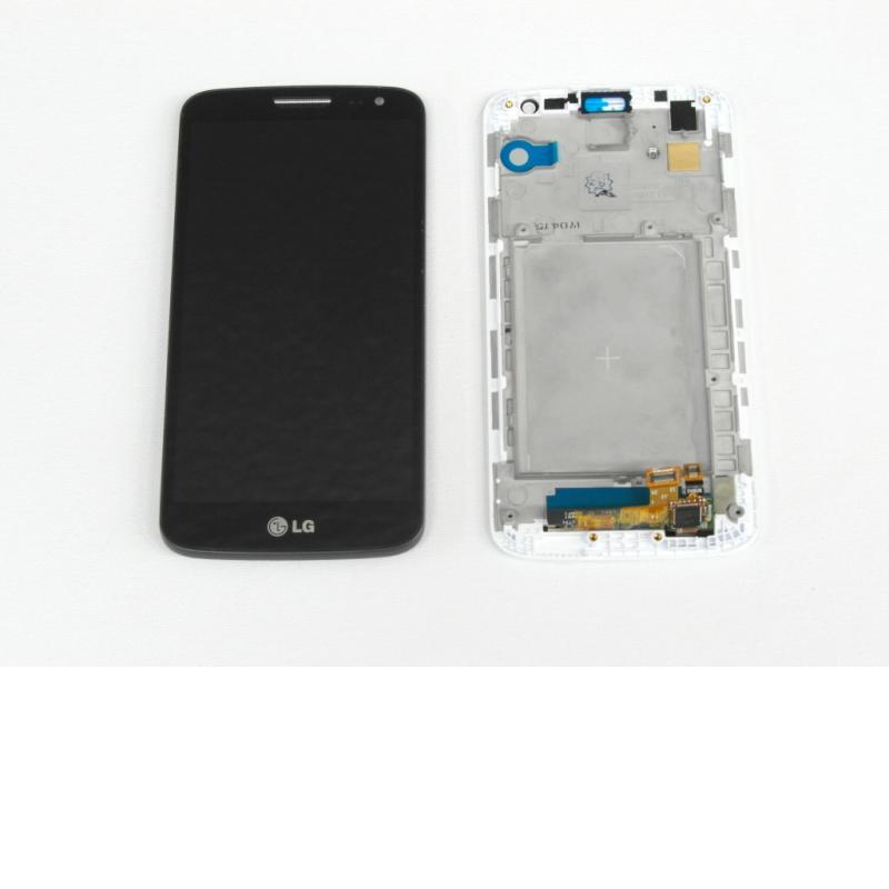 Pantalla LCD Display + Táctil con Marco para LG G2 Mini D620 - Negro