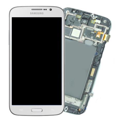 Pantalla LCD Display + Tactil con Marco Original para Samsung i9205 Galaxy Mega 6.3 - Blanca LIQUIDACION
