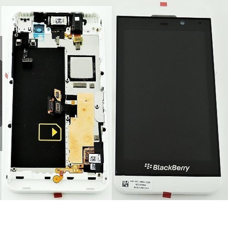 Pantalla Lcd Display + Tactil con Marco Blackberry Z10 4G Blanca