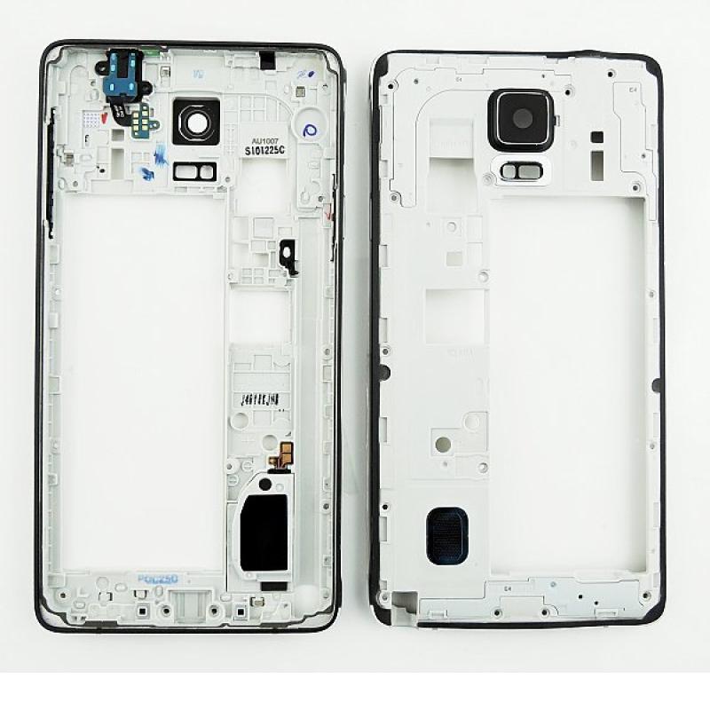 Carcasa Intermedia con Lente de Camara para Samsung Galaxy Note 4 SM-N910 - Negro