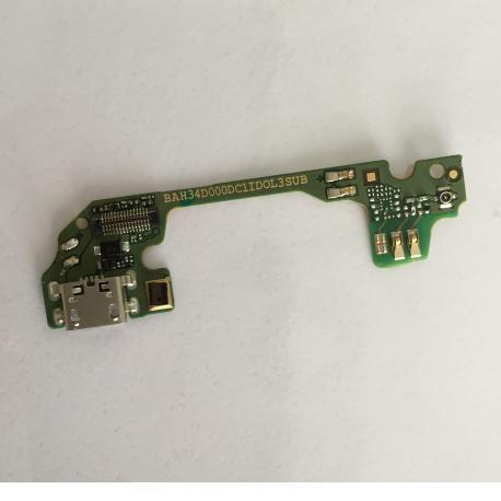 Modulo de Carga Micro USB y Microfono para Alcatel One Touch Idol 3 OT-6039 de 4.7 Pulgadas