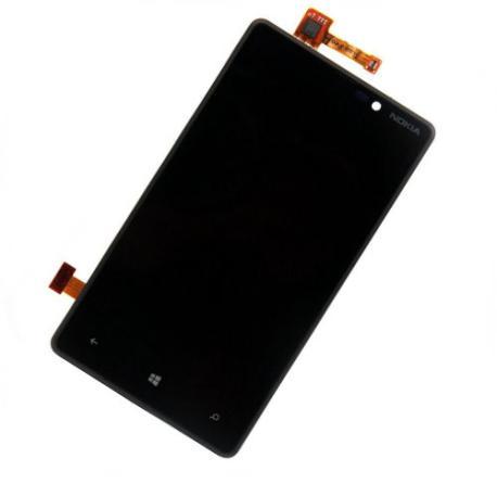 Pantalla LCD Display + Tactil con Marco para Nokia Lumia 820 - Negro