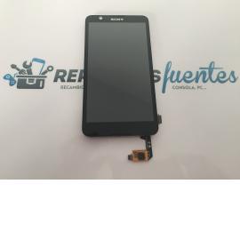 Pantalla Tactil + LCD con Marco Original Sony Xperia E4 E2104 E2105 Negro - Recuperado