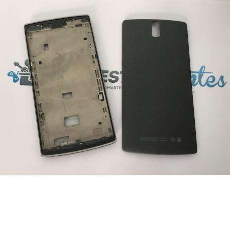 Repuesto Carcasa Intermedia y Tapa Trasera para Oppo OnePlus One 1 - Negra