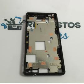 Repuesto Marco Frontal para Sony Xperia Z3 Compact D5803 D5833 - Desmontaje / Negro