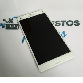 Repuesto Pantalla Tactil + LCD para Sony Xperia Z3 Compact D5803 D5833 - Blanca / Desmontaje