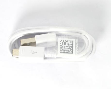 Cable Datos y Carga Micro USB para Smartphone / Movil Samsung - Blanco