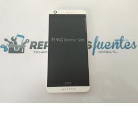 Repuesto Pantalla LCD + Tactil con Marco Original HTC Desire 626 - Blanco