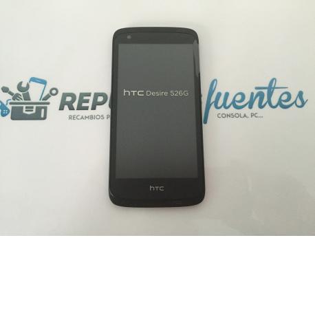 Repuesto Pantalla Lcd +Tactil con Marco Original HTC Desire 526G - Negro