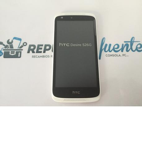 Repuesto Pantalla Lcd +Tactil con Marco Original HTC Desire 526G - Blanca