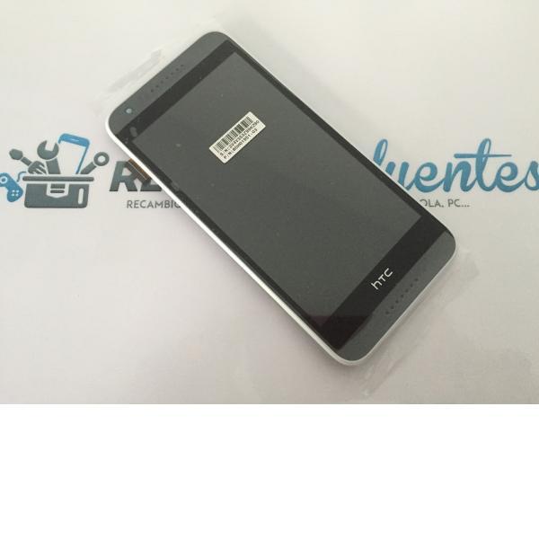 Repuesto Pantalla Lcd +Tactil con Marco para HTC Desire 620 - Gris / Blanco