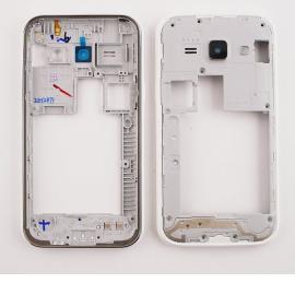 Repuesto Carcasa Intermedia con Lente de Camara Samsung Galaxy J100 J1 Blanca