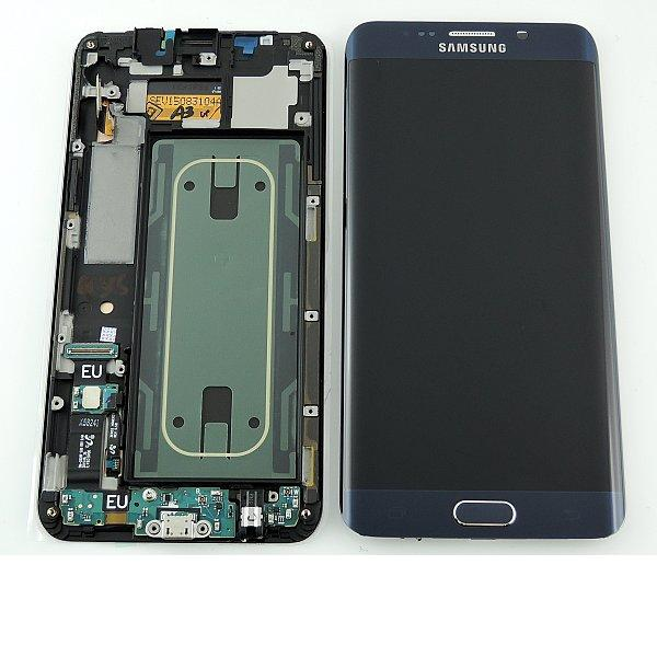 Pantalla LCD Display + Tactil y Flex Conector de Carga para Samsung Galaxy S6 Edge+ Plus SM-G928F - Negro