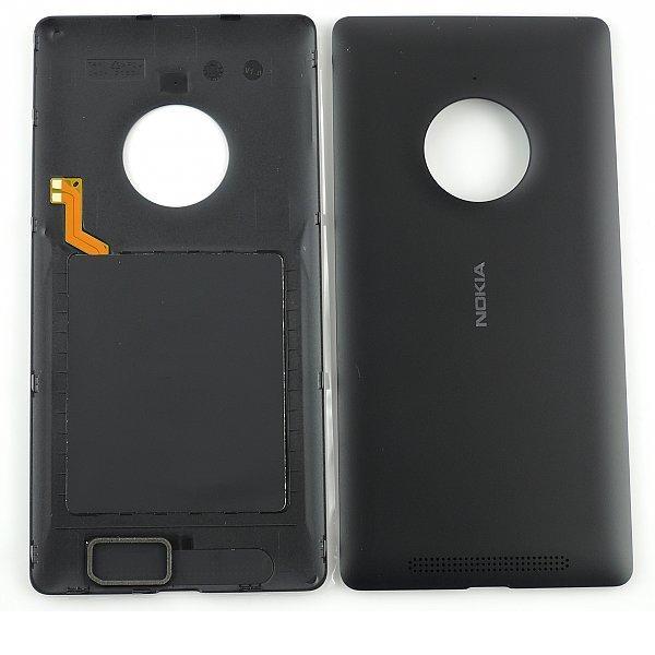 Carcasa Tapa Trasera con NFC Original para Nokia Lumia 830 - negra