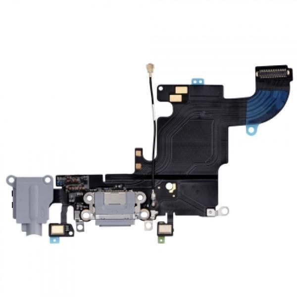 Flex de Conector de Carga y Jack de Audio para iPhone 6s - Gris Oscuro