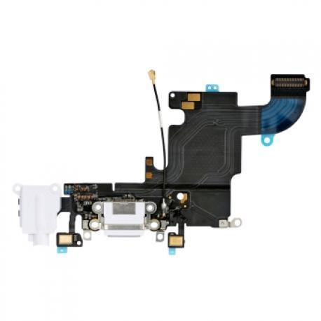 Flex de Conector de Carga y Jack de Audio para iPhone 6s - Blanco